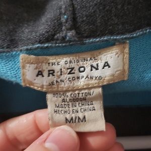 Arizona Jean Company Tops - Blue and gray striped sweater